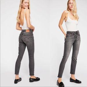 Levi's 501 Skinny Jeans - Coal Black size 29